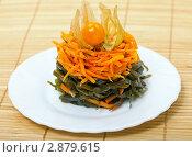 Купить «Аппетитная полезная закуска из моркови и ламинарии», фото № 2879615, снято 6 апреля 2011 г. (c) ElenArt / Фотобанк Лори