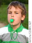 Купить «Ребенок со свистком», фото № 2881127, снято 11 мая 2010 г. (c) Losevsky Pavel / Фотобанк Лори