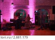 Купить «Ирландская рок-группа исполняет композицию на сцене», фото № 2881179, снято 13 июня 2010 г. (c) Losevsky Pavel / Фотобанк Лори