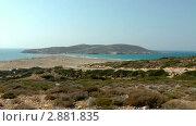Купить «Вид на пляж. Эгейское и Средиземное море. Греция», видеоролик № 2881835, снято 20 февраля 2019 г. (c) Павел Коновалов / Фотобанк Лори