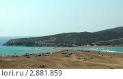 Купить «Вид на пляж. Эгейское и Средиземное море. Греция», видеоролик № 2881859, снято 6 октября 2011 г. (c) Павел Коновалов / Фотобанк Лори