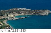 Купить «Вид на пляж. Греция», видеоролик № 2881883, снято 6 октября 2011 г. (c) Павел Коновалов / Фотобанк Лори