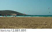 Купить «Виндсерфинг, Родос, Греция», видеоролик № 2881891, снято 7 октября 2011 г. (c) Павел Коновалов / Фотобанк Лори