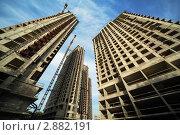 Купить «Строящиеся высотные здания», фото № 2882191, снято 27 сентября 2010 г. (c) Losevsky Pavel / Фотобанк Лори
