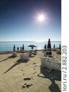 Купить «Песчаный пляж», фото № 2882203, снято 30 июля 2010 г. (c) Losevsky Pavel / Фотобанк Лори