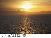 Купить «Закат над морем», фото № 2882495, снято 14 апреля 2010 г. (c) Losevsky Pavel / Фотобанк Лори