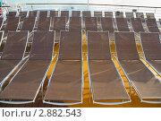 Купить «Шезлонги на палубе круизного судна», фото № 2882543, снято 15 апреля 2010 г. (c) Losevsky Pavel / Фотобанк Лори