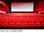 Купить «Кинозал с красными креслами», фото № 2883299, снято 22 октября 2010 г. (c) Losevsky Pavel / Фотобанк Лори