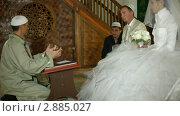 Купить «Свадебная церемония крымских татар в мечети», видеоролик № 2885027, снято 18 октября 2011 г. (c) Владимир Никулин / Фотобанк Лори