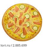 Пицца с рыбой. Стоковое фото, фотограф Сергей Матвеев / Фотобанк Лори