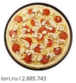 Пицца перед отправкой в печь. Стоковое фото, фотограф Сергей Матвеев / Фотобанк Лори