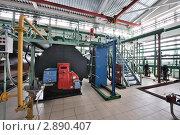 Котлы теплонасосной станции. Стоковое фото, фотограф Илья Лиманов / Фотобанк Лори