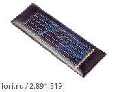 Купить «Элемент солнечной батареи, изолированно на белом фоне», фото № 2891519, снято 20 октября 2011 г. (c) Алексей Букреев / Фотобанк Лори