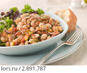 Купить «Бобовый салат с хрустящими сухариками», фото № 2891787, снято 2 августа 2007 г. (c) Monkey Business Images / Фотобанк Лори