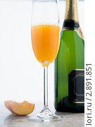 Купить «Коктейль беллини персиковый», фото № 2891851, снято 14 декабря 2007 г. (c) Monkey Business Images / Фотобанк Лори