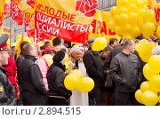Первомайская демонстрация в Санкт-Петербурге (2011 год). Редакционное фото, фотограф Макарова Елена / Фотобанк Лори