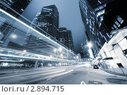 Купить «Ночная дорога. Гонконг», фото № 2894715, снято 18 августа 2018 г. (c) Iakov Kalinin / Фотобанк Лори