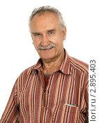 Купить «Пожилой мужчина», фото № 2895403, снято 17 июля 2018 г. (c) Marina Appel / Фотобанк Лори