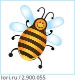 Купить «Смешная пчела в рамке», иллюстрация № 2900055 (c) Рада Коваленко / Фотобанк Лори