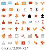 Купить «Красные и оранжевые символы-иконки на белом фоне», иллюстрация № 2904727 (c) Павел Коновалов / Фотобанк Лори