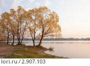 Купить «Ранее утро на Белом озере. Золотая осень, октябрь.», фото № 2907103, снято 8 октября 2011 г. (c) Наталья Николаева / Фотобанк Лори