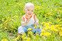 Счастливый малыш в одуванчиках, фото № 2908527, снято 29 мая 2011 г. (c) Типляшина Евгения / Фотобанк Лори