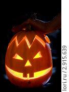 Купить «Тыква для Хэллоуина», фото № 2915639, снято 29 октября 2011 г. (c) Ольга Денисова / Фотобанк Лори