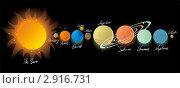 Купить «Солнечная система», иллюстрация № 2916731 (c) Ольга Садовникова / Фотобанк Лори