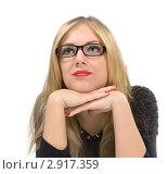 Портрет красивой блондинки. Стоковое фото, фотограф Евгений Липский / Фотобанк Лори