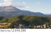 Вид на гору Демерджи из Алушты. Стоковое фото, фотограф Юрий Мураховский / Фотобанк Лори