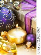 Купить «Новогодняя композиция», фото № 2920067, снято 1 ноября 2011 г. (c) Наталия Кленова / Фотобанк Лори