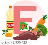 Купить «Содержание витамина Е в продуктах», иллюстрация № 2930423 (c) ivolodina / Фотобанк Лори