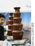 Купить «Шоколадный фонтан на Лыжном салоне-2011, Гостиный двор, Москва», фото № 2931955, снято 22 октября 2011 г. (c) Fro / Фотобанк Лори
