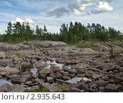 Купить «Карелия. Русло реки Выг», эксклюзивное фото № 2935643, снято 18 августа 2007 г. (c) Родион Власов / Фотобанк Лори