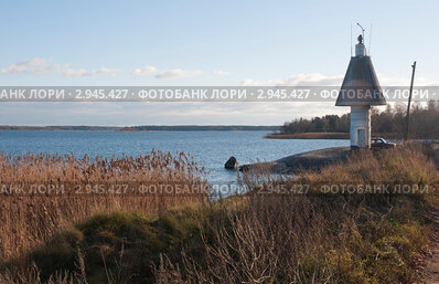 Купить «Маяк города Высоцка», фото № 2945427, снято 9 ноября 2011 г. (c) Марина Гуменюк / Фотобанк Лори