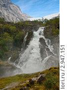Купить «Водопад Kleivafossen в горах Норвегии», фото № 2947151, снято 14 августа 2011 г. (c) Юлия Бабкина / Фотобанк Лори