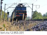 Поезд. Стоковое фото, фотограф Александр Соловьев / Фотобанк Лори