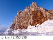 Скала Шаманка, озеро Байкал. Стоковое фото, фотограф Некрасов Андрей / Фотобанк Лори