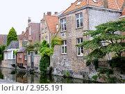 Купить «Каналы города Брюгге, Бельгия», эксклюзивное фото № 2955191, снято 22 июля 2011 г. (c) Илюхина Наталья / Фотобанк Лори