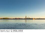 Петропавловская крепость, вид с Невы (2011 год). Стоковое фото, фотограф Евгений Медведев / Фотобанк Лори