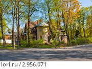 Дом на Каменном острове (2011 год). Стоковое фото, фотограф Евгений Медведев / Фотобанк Лори