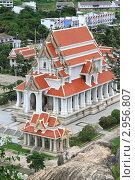 Купить «Буддийский храм в городе Wat Khao Chong Krajok, Prachuap Khiri Khan, Таиланд», фото № 2956807, снято 26 июля 2011 г. (c) Валерий Шанин / Фотобанк Лори