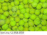 Купить «Мячи для большого тенниса», эксклюзивное фото № 2958859, снято 25 сентября 2011 г. (c) Алёшина Оксана / Фотобанк Лори