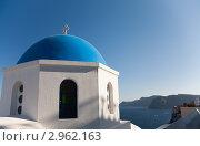 Купить «Православная церковь на острове Санторини, Греция», фото № 2962163, снято 20 мая 2019 г. (c) Гараев Александр / Фотобанк Лори