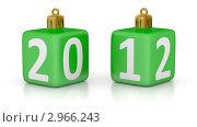 Купить «Елочные игрушки с цифрами  2012», иллюстрация № 2966243 (c) Маринченко Александр / Фотобанк Лори