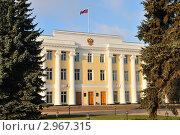 Купить «Здание законодательного собрания в Нижегородском Кремле», фото № 2967315, снято 6 ноября 2011 г. (c) Денис Ларкин / Фотобанк Лори