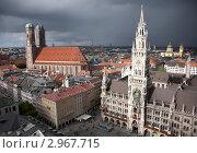 Купить «Мюнхен. Мариенплац в пасмурную погоду», фото № 2967715, снято 20 мая 2019 г. (c) Гараев Александр / Фотобанк Лори