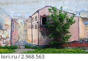 Граффити на одном из домов в Выборге (2011 год). Редакционное фото, фотограф Александронец Олеся / Фотобанк Лори