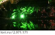 Купить «Отражение ночного кафе в воде», видеоролик № 2971171, снято 1 сентября 2011 г. (c) Светлана Полушкина / Фотобанк Лори