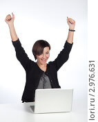 Купить «Девушка работает на компьютере», фото № 2976631, снято 22 ноября 2011 г. (c) Михаил Иванов / Фотобанк Лори